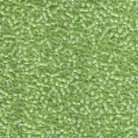 15g MATSUNO 11/0 SEED BEADS-IC CLEAR/PL MINT GRN-